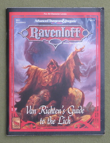 Image for Van Richten's Guide to the Lich (Advanced Dungeons & Dragons: Ravenloft Accessory RS1)
