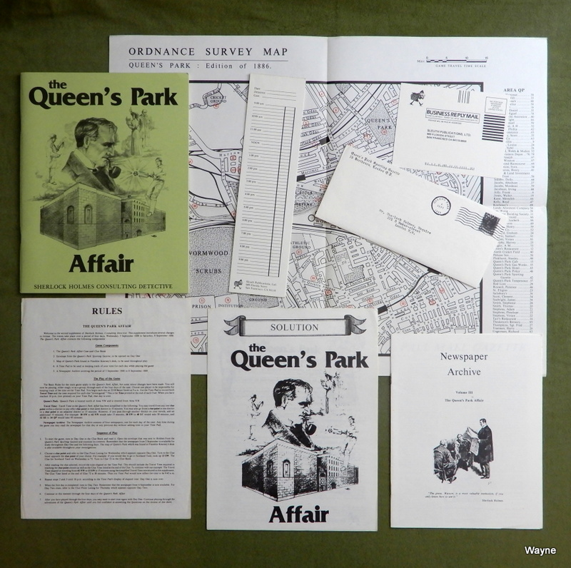 Image for The Queen's Park Affair (Sherlock Holmes Consulting Detective) - NO BOX
