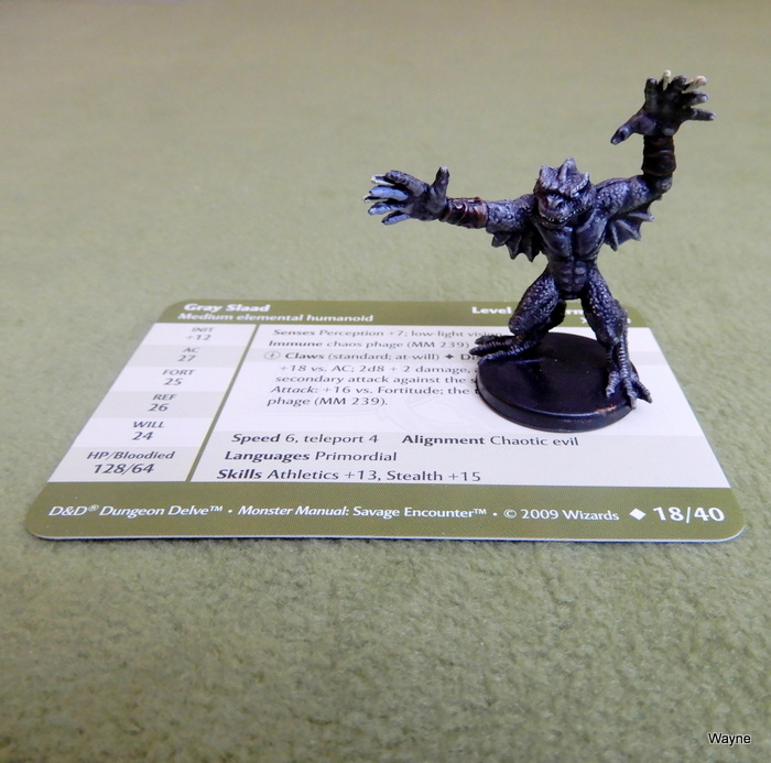 Image for Gray Slaad (Dungeons and Dragons Savage Encounters Miniature 18/40)