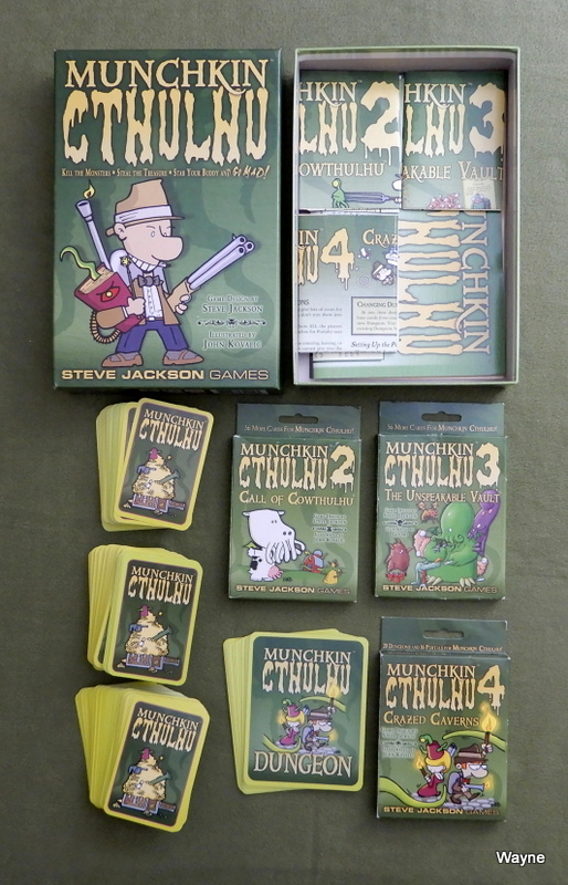 Image for Munchkin Cthulhu + Expansions 2, 3, and 4