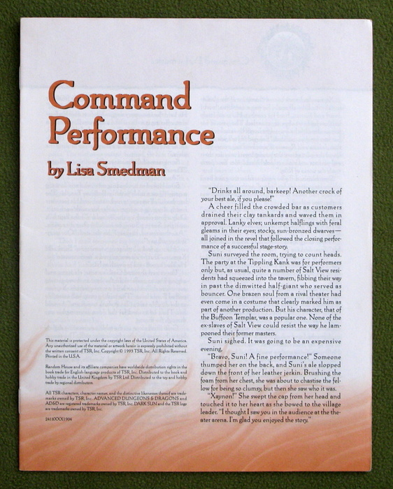 Image for Command Performance (AD&D / Dark Sun: Ivory Triangle)