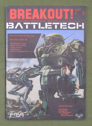 Image for Breakout Magazine #30: The Australasian Gamers' Quarterly (March/May 1988) - Special Battletech Issue