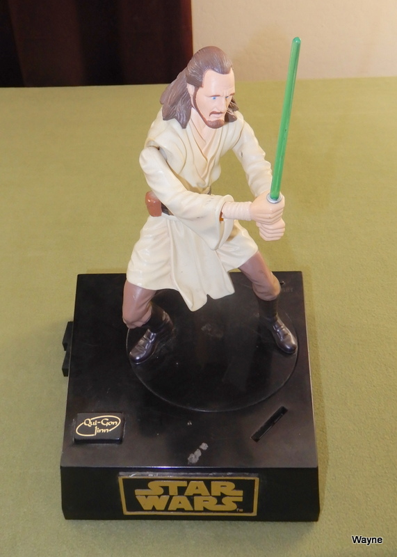 Image for Star Wars Qui Gon Jinn Interactive Talking Moving Coin Bank
