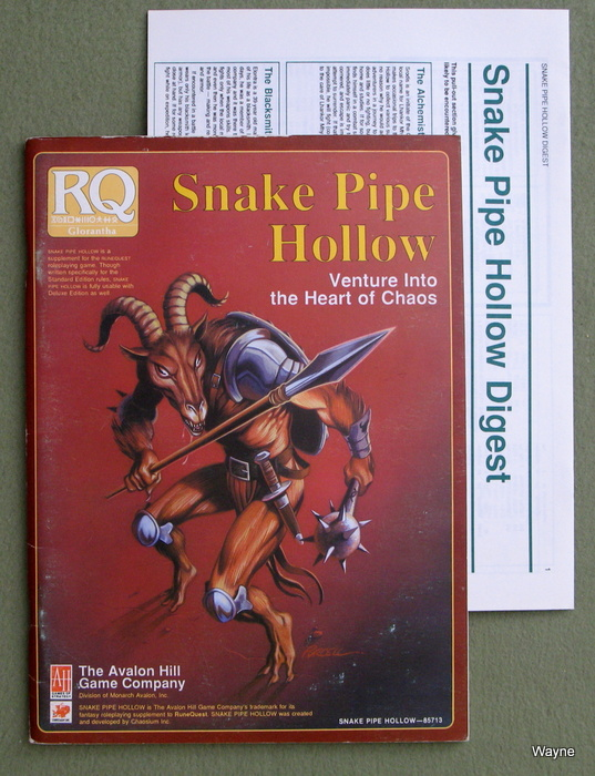 Image for Snake Pipe Hollow: Venture into the Heart of Chaos (Runequest)