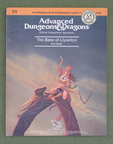 Image for The Bane of Llywelyn (Advanced Dungeons & Dragons module C5)