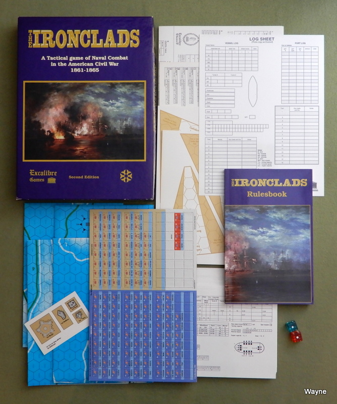 Image for The Ironclads, a Tactical Game of Naval Combat in the American Civil War 1861-5, 2nd Edition