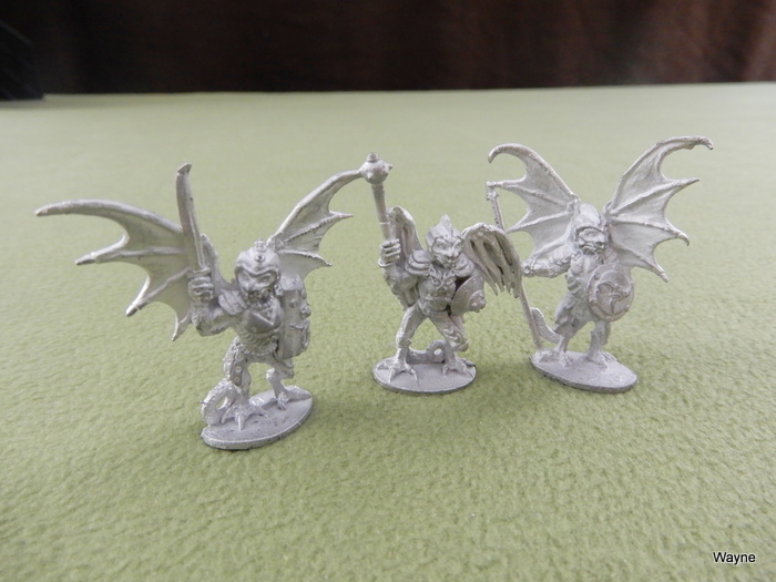 Image for Armored Dragonmen (3 Grenadier miniatures)