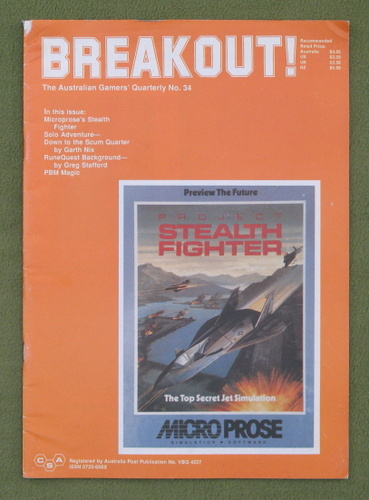 Image for Breakout Magazine #34: The Australasian Gamers' Quarterly (March/June 1989)