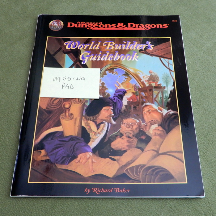 Image for World Builder's Guide Book (Advanced Dungeons & Dragons, 2nd edition) - MISSING FORMS PAD