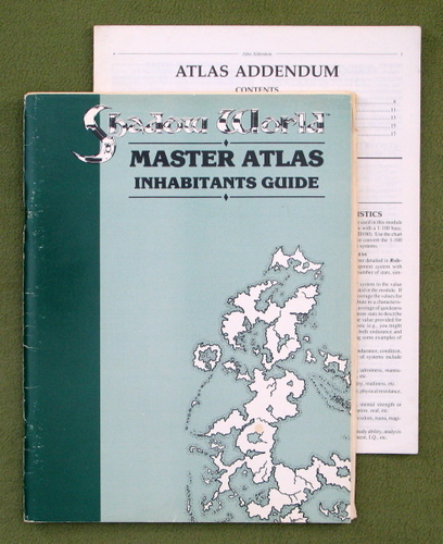 Image for INHABITANTS GUIDE (Shadow World: Master Atlas) + Atlas Addendum