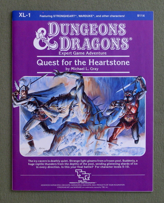 Image for Quest for the Heartstone (Dungeons & Dragons Module XL1)