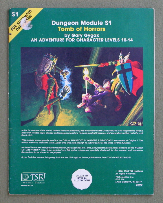 Image for Tomb of Horrors (Advanced Dungeons & Dragons Module S1)