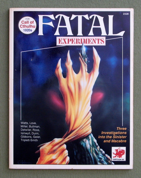 Image for Fatal Experiments (Call of Cthulhu)