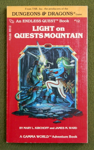 Image for Light on Quests Mountain (Endless Quest Book 12: Gamma World)