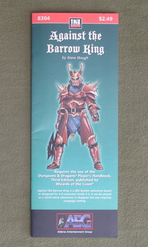 Image for Against the Barrow King (Dungeons and Dragons, 3rd Edition: D20 System)