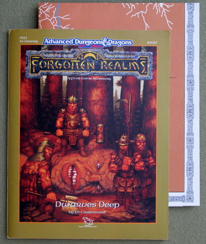 Image for Dwarves Deep (Advanced Dungeons & Dragons / Forgotten Realms Accessory FR11)