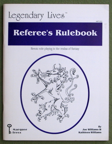 Image for Legendary Lives Referee's Rulebook (Heroic role playing in the realms of fantasy)
