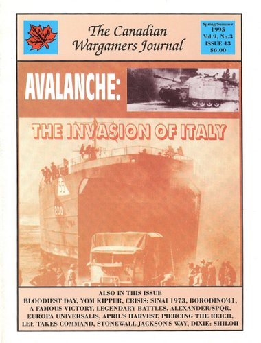Image for Canadian Wargamers Journal, Issue 43: Avalanche - The Invasion of Italy