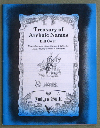 Image for Treasury of Archaic Names, Volume 1