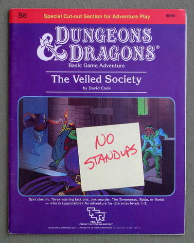 Image for The Veiled Society (Dungeons & Dragons Module B6) - MISSING STANDUPS