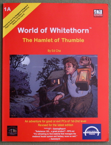 Image for The Hamlet of Thumble: World of Whitethorn Supplement 1A (d20 Fantasy Roleplaying)