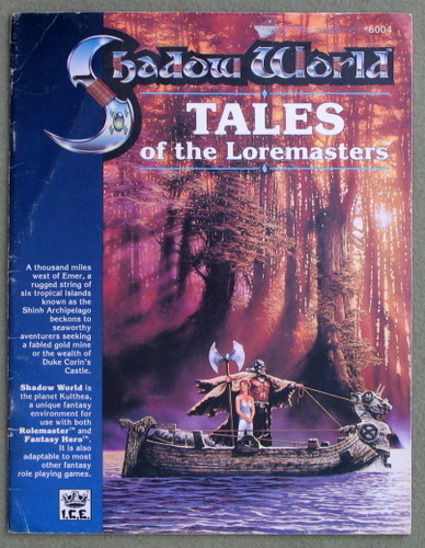 Image for Tales of the Loremasters (Rolemaster / Shadow World) - PLAY COPY