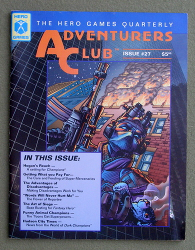 Image for Adventurers Club: The Hero Games Quarterly #27 (Fall 1995)