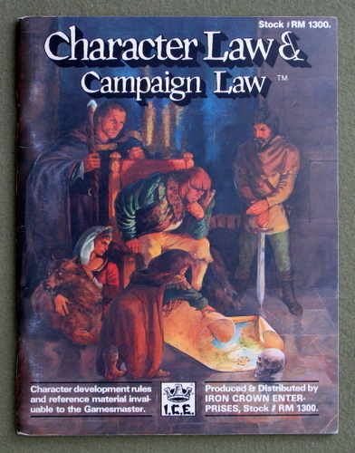 Image for Character Law and Campaign Law (Rolemaster)