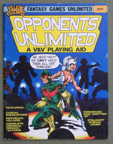 Image for Opponents Unlimited: A Villains & Vigilantes Playing Aid - PLAY COPY