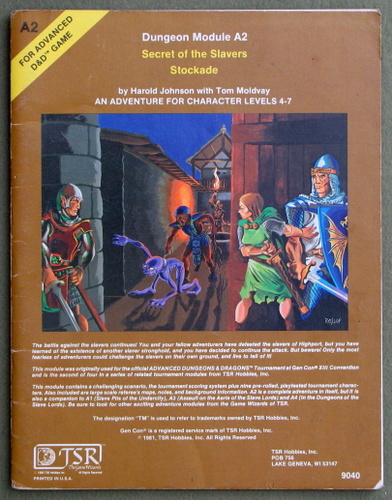 Image for Secret of the Slavers Stockade (Advanced Dungeons & Dragons module A2) - PLAY COPY