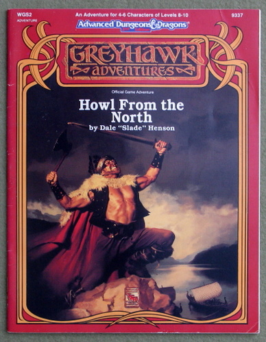 Image for Howl from the North (Advanced Dungeons and Dragons/Greyhawk Module WGS2)