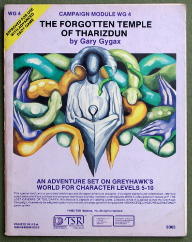 Image for The Forgotten Temple of Tharizdun (Advanced Dungeons & Dragons module WG4)
