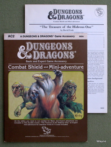 Image for Combat Shield and Mini-Adventure (Dungeons & Dragons Accessory AC2)