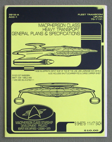 Image for Macpherson Class Heavy Transport: General Plans & Specifications (U.S.S. Lagrange NCC-3916-A)