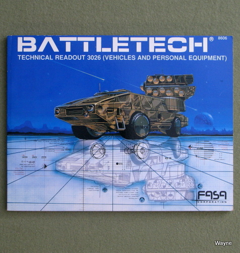 Image for Battletech Technical Readout 3026: Vehicles and Personal Equipment