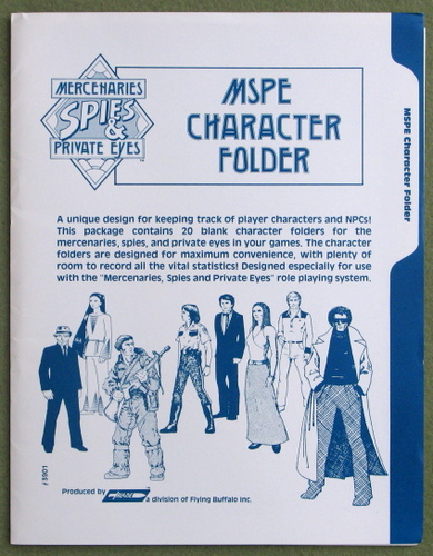 Image for MSPE Character Folder (Folders): Mercenaries, Spies and Private Eyes