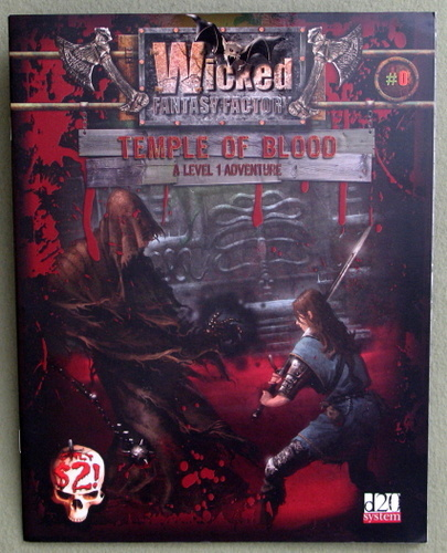 Image for Temple of Blood: A Level 1 Adventure (Wicked Fantasy Factory: D20 System)