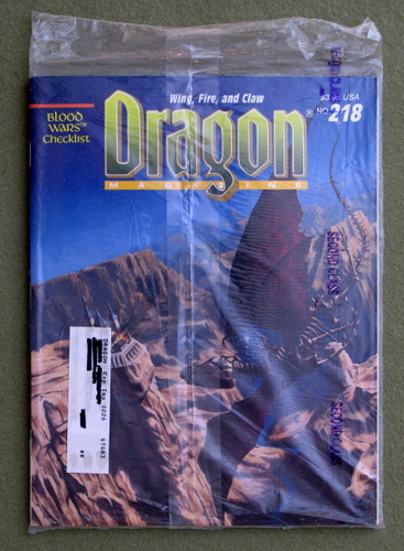 Image for Dragon Magazine, Issue 218