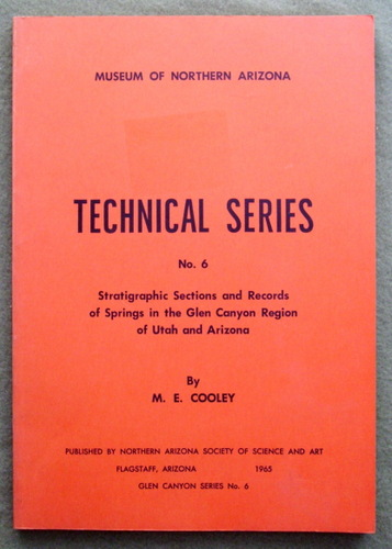Image for Stratigraphic sections and records of springs in the Glen Canyon Region of Utah and Arizona (Museum of Northern Arizona: Technical series No. 6)