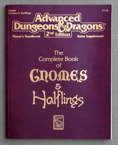 Image for The Complete Book of Gnomes & Halflings (Advanced Dungeons & Dragons: Player's Handbook Rules Supplement/PHBR9)