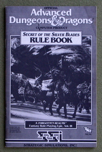 Image for Secret of the Silver Blades Rule Book - A Forgotten Realms Fantasy Role-Playing Epic, Volume III - Official Advanced Dungeons & Dragons Computer Product