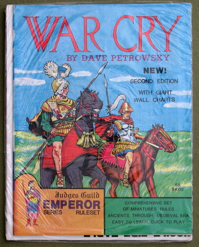 Image for War Cry: Comprehensive Set of Miniatures Rules, Ancients Through Medieval Era (2nd Edition)