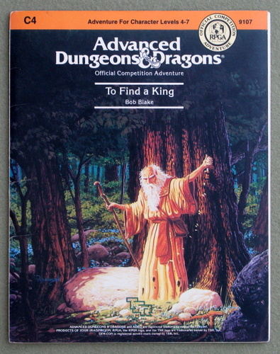 Image for To Find a King (Advanced Dungeons & Dragons Module C4)