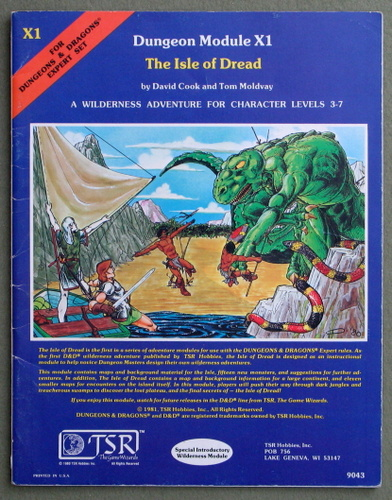Image for The Isle of Dread (Dungeons and Dragons Module X1) - PLAY COPY