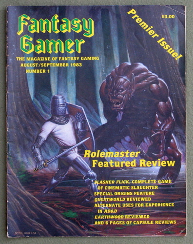 Image for Fantasy Gamer, Number 1: The Magazine of Fantasy Gaming (Premier Issue: Aug/Sept 1983)