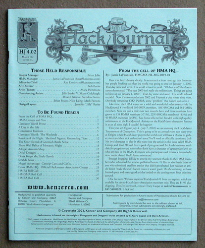 Image for HackJournal: The Official Publication of the Hackmaster Association (Issue 2 - Mar 2002)