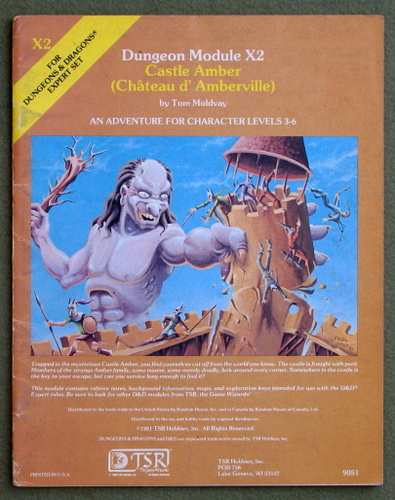 Image for Castle Amber (Chateau d'Amberville) (Dungeons & Dragons Module X2) - PLAY COPY