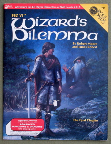 Image for FEZ VI: Wizard's Dilemma (Role Aids / Advanced Dungeons & Dragons) - PLAY COPY