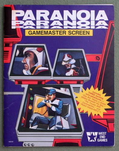 Image for Paranoia Gamemaster Screen (Paranoia, 1st Edition)