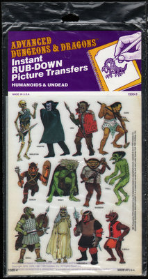 Image for Advanced Dungeons & Dragons: Instant Rub-Down Picture Transfers (Humanoids & Undead)